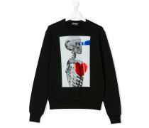 skeleton print sweatshirt