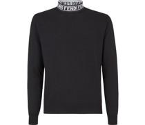 Pullover mit Logo-Kragen