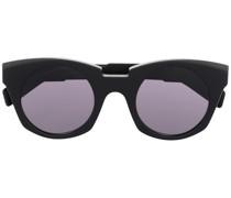 Kantige Sonnenbrille mit runden Gläsern