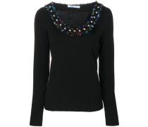embellished collar sweater