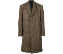 Karierter Mantel mit Knopfleiste