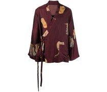 Kimono-Jacke mit Malerei-Print
