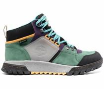 colour-block suede boots