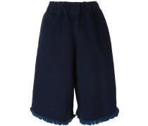 Ungesäumte Oversized-Shorts