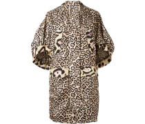 Oversized-Mantel mit Leoparden-Print