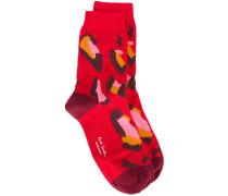 Socken mit Leopardenmuster