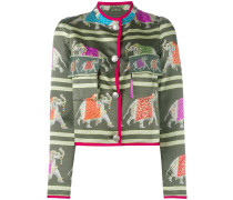 embroidered jacket - women