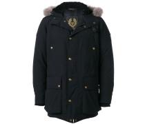 lined hood padded coat