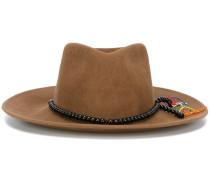 Hut mit Schmuckperlenband - women - Wool Felt