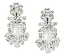 drop crystal clip-on earrings