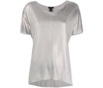 T-Shirt mit Metallic-Effekt