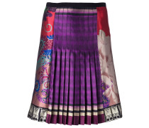 multi print pleated skirt