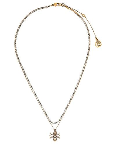 Halskette mit Spinnenanhänger