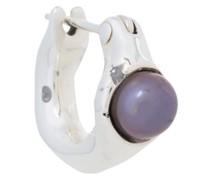 E.M. Silberkreole mit schwarzer Perle
