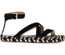 Sandalen mit geflochtener Sohle