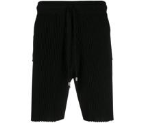 Shorts aus geripptem Strick
