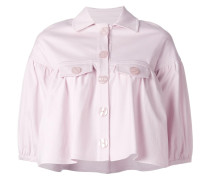 Cropped-Jacke mit Hemdkragen
