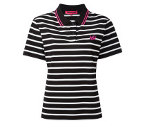 - Gestreiftes Poloshirt mit Schwalben-Patch