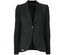 contrast sleeve blazer