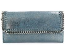 metallic falabella wallet