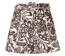 'Lew' Shorts mit abstraktem Print