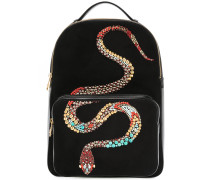 Snake embellished backpack
