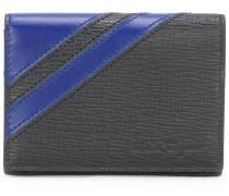 textured stripe accent wallet