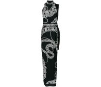 long chain print dress