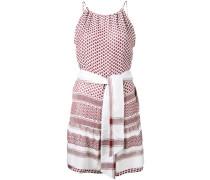 'Keffiyeh' Kleid mit Gürtel