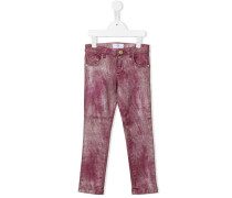 Schmale Jeans im Metallic-Look