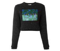- patch flocked cropped pullover - women