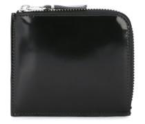 Glänzendes Portemonnaie mit Reißverschluss
