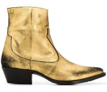 Cowboy-Boots im Metallic-Look
