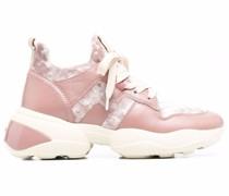 Sneakers mit Samt-Einsätzen