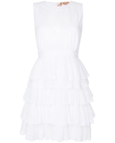 Kleid mit gestuften Rüschen