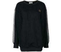 Sweatshirt mit Spitzendetails