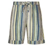 Gestreifte Malagasy Pyjama-Shorts