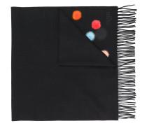 Schal mit Pompons
