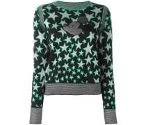 Jacquard-Pullover mit Micky-Maus-Patch