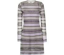 Langärmeliges Metallic-Kleid