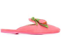 Mules mit Blumenapplikation - women
