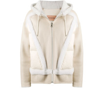 fur-trim bomber jacket