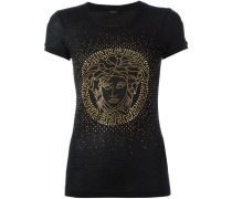 Seiden-T-Shirt mit Medusa-Motiv