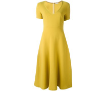 P.A.R.O.S.H. Kurzärmeliges Kleid mit V-Ausschnitt