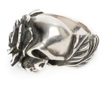 Ring mit Totenkopf aus Silber