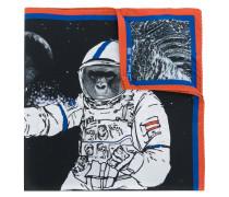 Seideneinstecktuch mit Astronauten-Print