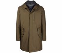concealed-front hooded parka