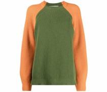 two-tone merino sweater
