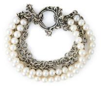 Gliederarmband mit Perlen