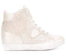 - Metallische High-Top-Sneakers - women